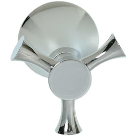 Cifial 246.665.721 - Brookhaven Volume Control and Diverter Transfer Valve Trim Crown Cross - Polished Nickel