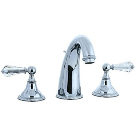 Cifial 255.150.625 - Brunswick Crystal Handle Hi-arch Widespread Lavatory Faucet - Polished Chrome
