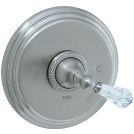 Cifial 255.606.620 - Brunswick Crystal Handle P.Bal valve without Diverter - Satin Nickel