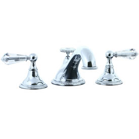 Cifial 255.640.625 - Brunswick Crystal Handle 3-pc Teapot Roman Tub Faucet Trim - Polished Chrome