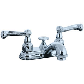 Cifial 256.115.625 - Brunswick 4-inch Center Lavatory Faucet - Polished Chrome