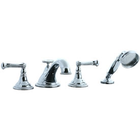 Cifial 256.645.625 - Brunswick 4-pc. Teapot Roman Tub Faucet Trim - Polished Chrome