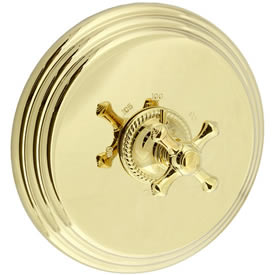 Cifial 257.616.X10 - Brunswick Cross Thermostatic Valve Trim without Volume Control Crs-Pvd