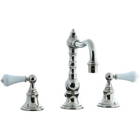 Cifial 262.130.721 - High Porcelain Lever Pillar Widespread Lavatory Faucet - Polished Nickel