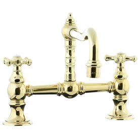 Cifial 267.235.X10 - High Hi-rise Exposed Bride Mount Kitchen Faucet without Spray -PVD Brass