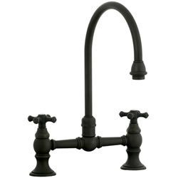 Cifial 267.270.W30 - High Gooseneck Bridge Kitchen or Bar Faucet - Weathered