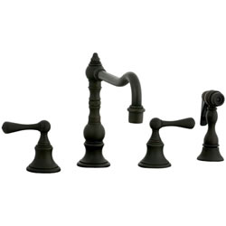 Cifial 268.255.W30 - High Pillar Kitchen Widespread Faucet with spray -Weathered