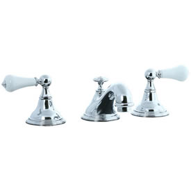 Cifial 272.110.625 - Asbury Porcelain Lever Teapot Widespread Lavatory Faucet - Polished Chrome