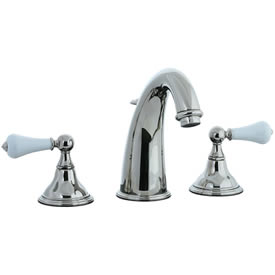 Cifial 272.150.721 - Asbury Porcelain Lever Hi-arch Widespread Lavatory Faucet - Polished Nickel