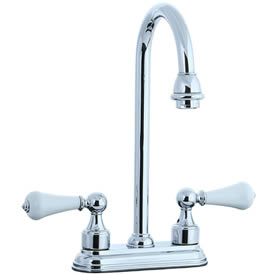 Cifial 272.225.625 - Asbury Porcelain Lever 4-inch Center Bar Faucet - Polished Chrome