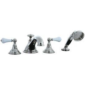 Cifial 272.645.721 - Asbury Porcelain Lever 4-pc. Teapot Roman Tub Faucet Trim - Polished Nickel