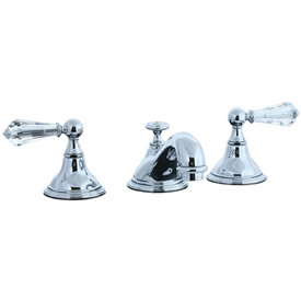 Cifial 275.110.625 - Asbury Crystal Handle Teapot Widespread Lavatory Faucet - Polished Chrome