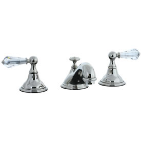 Cifial 275.110.721 - Asbury Crystal Handle Teapot Widespread Lavatory Faucet - Polished Nickel