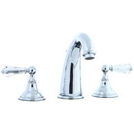 Cifial 275.150.625 - Asbury Crystal Handle Hi-arch Widespread Lavatory Faucet - Polished Chrome
