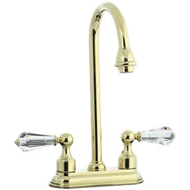 Cifial 275.225.X10 - Asbury Crystal Handle 4-inch Center Bar Faucet -PVD Brass
