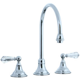 Cifial 275.230.625 - Asbury Crystal Handle Kitchen Widespread Faucet without spray - Polished Chrome