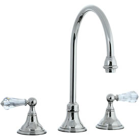 Cifial 275.230.721 - Asbury Crystal Handle Kitchen Widespread Faucet without spray - Polished Nickel