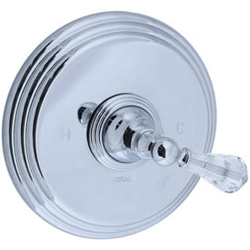 Cifial 275.606.625 - Asbury Crystal Handle PB valve without Diverter TRIM- Polished Chromeom