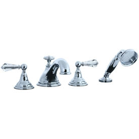 Cifial 275.645.625 - Asbury Crystal Handle 4-pc. Teapot Roman Tub Faucet Trim - Polished Chrome