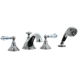Cifial 275.645.721 - Asbury Crystal Handle 4-pc. Teapot Roman Tub Faucet Trim - Polished Nickel