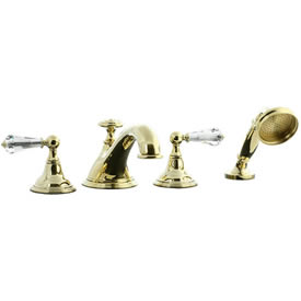 Cifial 275.645.X10 - Asbury Crystal Handle 4-pc. Teapot Roman Tub Faucet Trim -PVD Brass