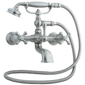 Cifial 277.330.620 - Asbury Claw foot tub filler - Satin Nickel