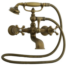 Cifial 277.330.V05 - Asbury Claw foot tub filler - Aged Brass