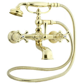 Cifial 277.330.X10 - Asbury Claw foot tub filler - PVD Brass