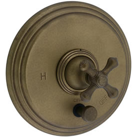 Cifial 277.611.V05 - Asbury Pressure Balance Mixing Valve Trim B/S Valve without Diverter Trim-Ag Br
