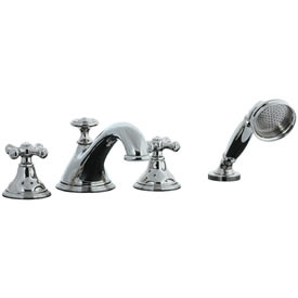 Cifial 277.645.721 - Asbury 4-pc. Teapot Roman Tub Faucet Trim - Polished Nickel