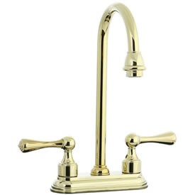 Cifial 278.225.X10 - Asbury 4-inch Center Bar Faucet -PVD Brass