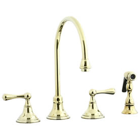 Cifial 278.245.X10 - Asbury Kitchen Widespread Faucet with spray -PVD Brass