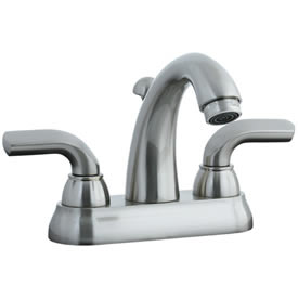 Cifial 295.115.620 - Stone Mountain 4-inch cc Lavatory Faucet with Lever Handle-Satin Ni