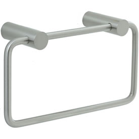 Cifial 422.440.620 - Techno Straight Two-Post Towel Ring - St. Nickel