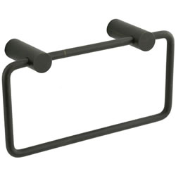 Cifial 422.440.W30 - Techno Straight Two-Post Towel Ring - Weathered