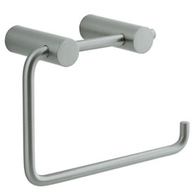 Cifial 422.655.620 - Techno Straight Two-Post Toilet Paper Holder - St. Nickel