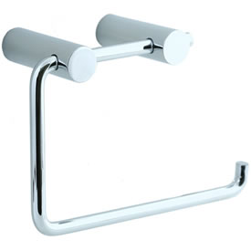 Cifial 422.655.625 - Techno Straight Two-Post Toilet Paper Holder - Pol. Chrome