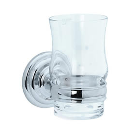Cifial 477.760.625 - Crystal tumbler with holder