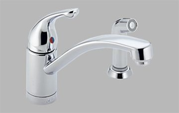 Delta 451 Wf Single Handle Kitchen Faucet With Spray Clearance Item