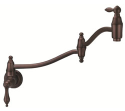 Danze D205040RB - Fairmont Single Handle Pot Filler Wall Mount Lever Handle - Oil Rubbed Bronze