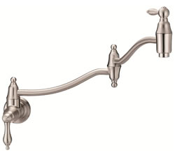 Danze D205040SS - Fairmont Single Handle Pot Filler Wall Mount Lever Handle - Stainless Steel