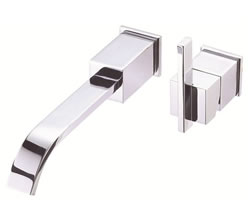 Danze D216044T - Sirius Single Handle TRIM Wall Mount Lav Lever Handle with Touch Down Drain - Polished Chrome