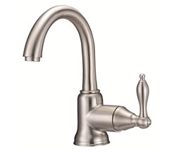 Danze D221540BN - Fairmont Single Handle Centerset Side Mount Handle with Touch Down Drain - Tumbled Bronzeushed Nickel