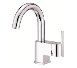 Danze D221542 - Como Single Handle Centerset Side Mount Handle with Touch Down Drain - Polished Chrome