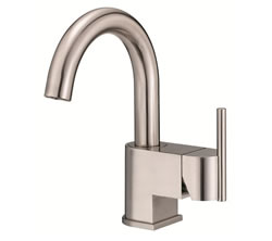 Danze D221542BN - Como Single Handle Centerset Side Mount Handle with Touch Down Drain - Tumbled Bronzeushed Nickel