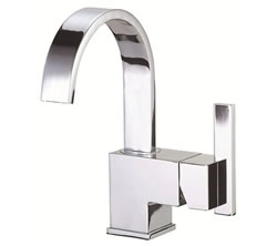 Danze D221544 - Sirius Single Handle Centerset Side Mount Handle with Touch Down Drain - Polished Chrome