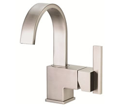 Danze D221544BN - Sirius Single Handle Centerset Side Mount Handle with Touch Down Drain - Tumbled Bronzeushed Nickel