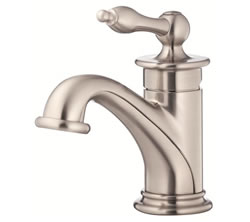 Danze D236010BN - Prince Single Handle Lavatory Faucet 1 hole mt, with touchdown drn, with deck cover - Tumbled Bronzeushed Nickel