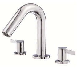 Danze D300930T - Amalfi Two Handle Roman Tub TRIM, no spray, widespread valve - Polished Chrome