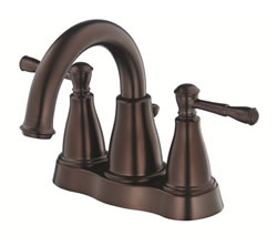 Danze D301015BR - Eastham Two Handle Centerset Lavatory Faucet , with 5050 popup drain - Tumbled Bronze